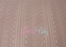Beige Stripy Lace Backdrop Overlay